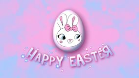 Happy Easter animation title trailer 30 FPS bubbles pink babyblue