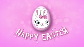 Happy Easter animation title trailer 30 FPS bubbles pink