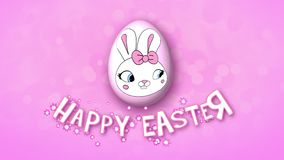Happy Easter animation title trailer 50 FPS bubbles pink
