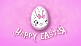 Happy Easter animation title trailer 25 FPS bubbles pink