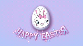Happy Easter animation title trailer 50 FPS dots pink babyblue