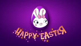 Happy Easter animation title trailer 50 FPS dots violet/purple