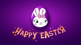 Happy Easter animation title trailer 30 FPS dots violet/purple