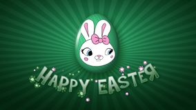 Happy Easter animation title trailer 30 FPS infinity dark green
