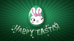 Happy Easter animation title trailer 25 FPS infinity dark green