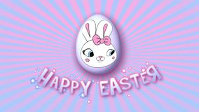Happy Easter animation title trailer 30 FPS infinity pink babyblue