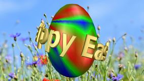 Happy Easter Video. Happy Easter as a video sequence to mix in a greeting Video stock video