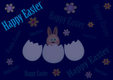 Happy Easter background. Happy easter with rabbit on glue background Stock Image