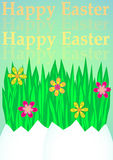 Happy Easter background. With grass and flower Stock Images