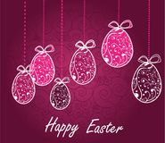 Happy Easter background Stock Photos