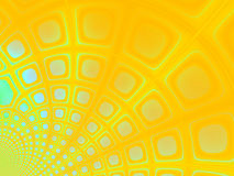 Happy Easter background. A yellow/blue fractal design. Can be used as a background Stock Image