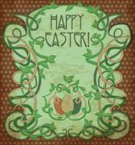 Happy Easter background in art nouveau style Stock Photography