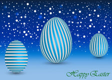 Happy Easter Background with a blue Egg Royalty Free Stock Image