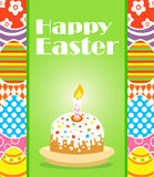 Happy Easter background with cake Royalty Free Stock Images