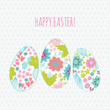 Happy Easter Background card eggs. Stock Photography
