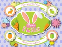 Happy Easter background card vector Royalty Free Stock Image