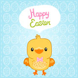 Happy Easter background with cartoon cute basket Royalty Free Stock Images