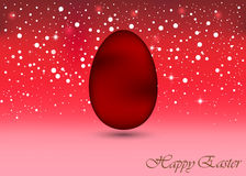 Happy Easter Background with a Colorful Egg Royalty Free Stock Images