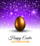 Happy Easter Background with a Colorful Egg with Shadow vector illustration