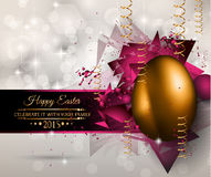 Happy Easter Background with a Colorful Egg royalty free illustration