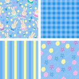 Seamless backgrounds for easter Stock Images