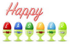 Happy Easter background with easter eggs Stock Photography