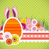 Happy easter background with eggs, banny ears. Colorful Stock Image