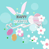 Happy easter. Background with  eggs and decoation Royalty Free Stock Photo