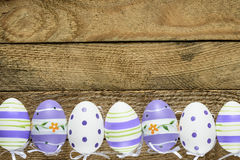 Happy easter background with eggs. Happy easter background with Decorated eggs Stock Images