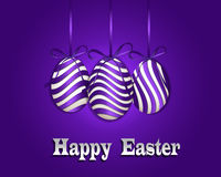 Happy Easter background with eggs. Stock Photo