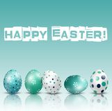 Happy Easter Background with eggs of shadow. Illustration of Happy Easter Background with eggs of shadow Royalty Free Stock Photography
