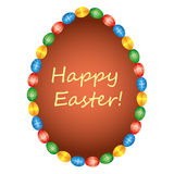 Happy Easter Background with eggs Stock Photos