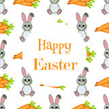 Happy Easter Background. Flat Icons. Spring Holiday Concept Stock Image