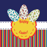Happy Easter background for greeting card, Royalty Free Stock Photos