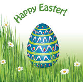 Happy easter background.  holiday textured greeting card Stock Image