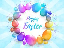 Happy Easter background with realistic Easter eggs. Easter card. Happy Easter background with realistic Easter eggs. Easter card Royalty Free Stock Image