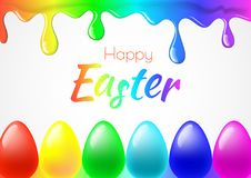 Happy Easter background with realistic Easter eggs. Easter card. Happy Easter background with realistic Easter eggs. Easter card Stock Photos