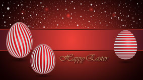 Happy Easter Background with a red Egg Royalty Free Stock Photography