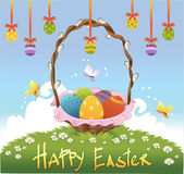 Happy easter background. Vector illustration Stock Image