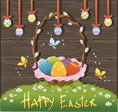 Happy easter background. Vector illustration Royalty Free Stock Photo