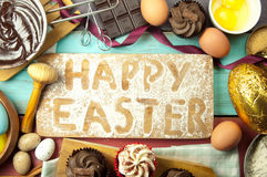 Happy easter baking Stock Photos
