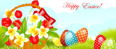 Happy easter banner. Stock Images
