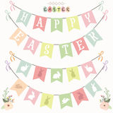Happy Easter Banner Flag Set. A vector illustration of Happy Easter Banner Flag Set. Perfect for Happy Easter day, Easter celebrations, greeting card and many Royalty Free Stock Photography
