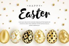 Happy Easter banner horizontal vector illustration