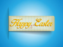 Happy Easter Banner Tag Sticker Stock Photos