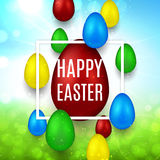 Happy Easter banner Stock Photography