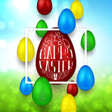 Happy Easter banner Royalty Free Stock Photo