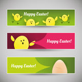 Happy Easter Banners Royalty Free Stock Images