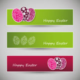 Happy Easter Banners Stock Photography