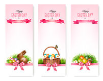 Happy Easter banners. Stock Images